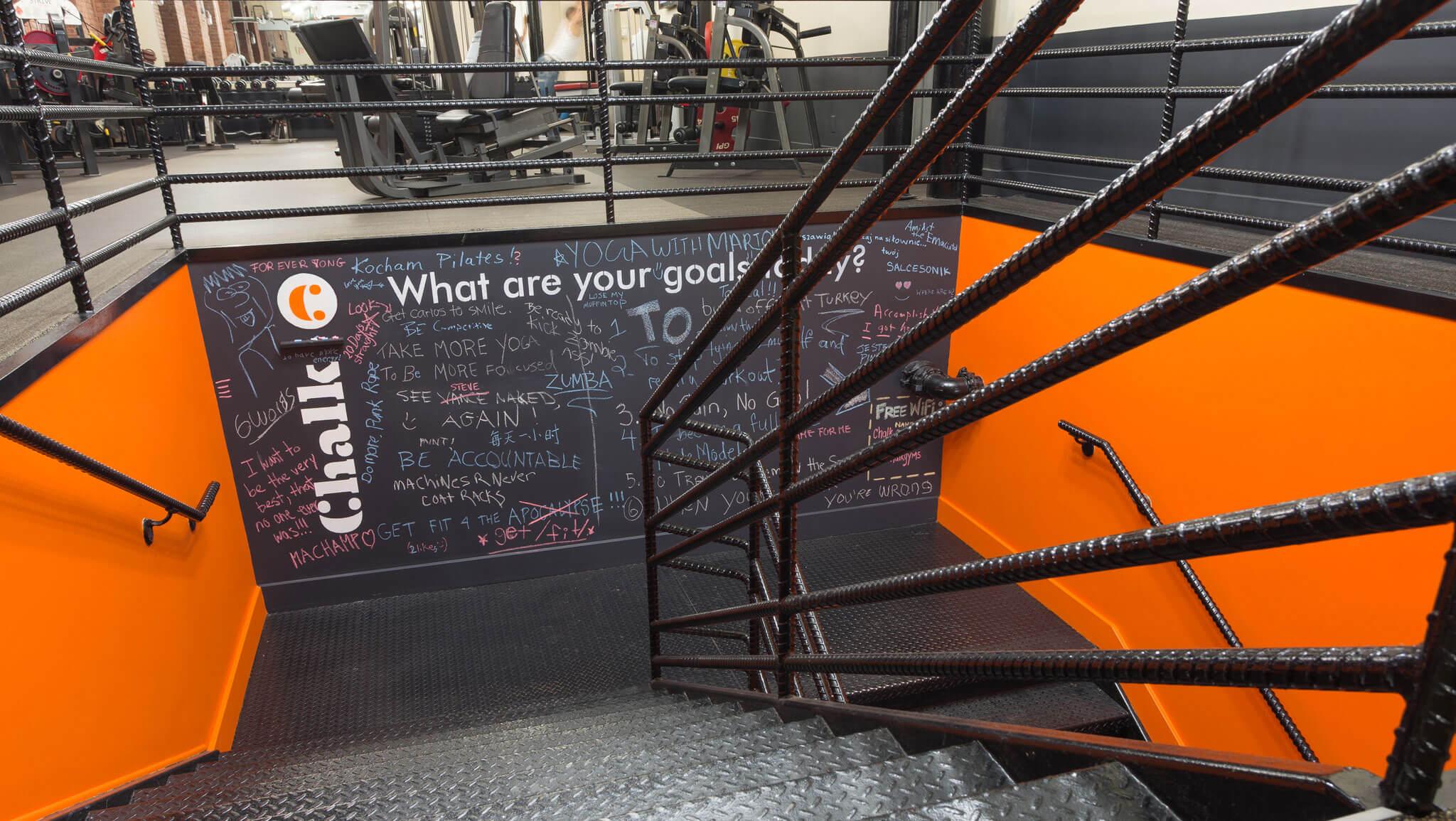 chalk-stairs